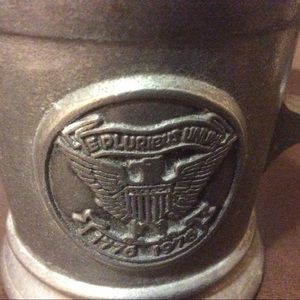 Accents - Bicentennial Pewter Dish and Cup